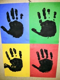 Warhol Handprint Art P R E P