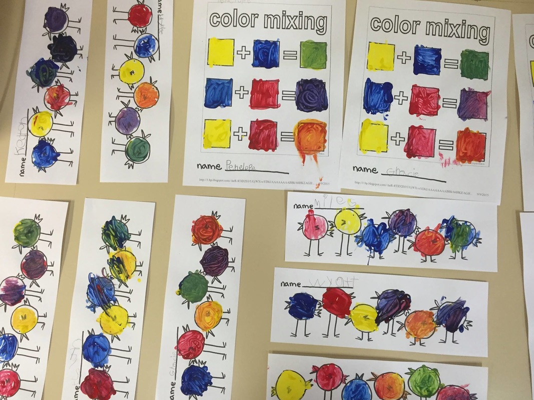 Color Mixing Art PREP – Color Mixing Worksheet
