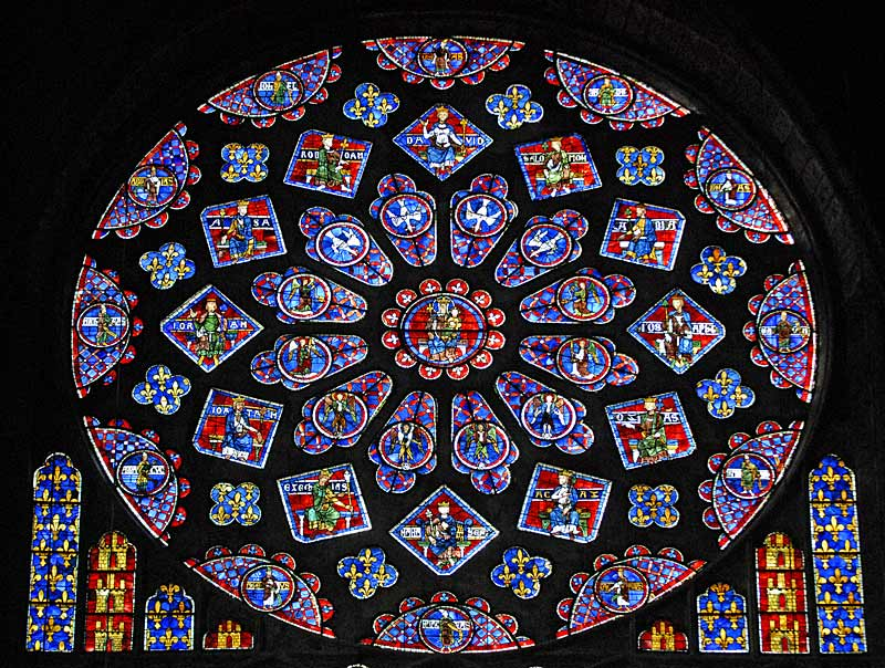 Stained Glass Windows Picture In The Middle Ages Height Of Artistic Achievement Was Gothic Cathedral Development Pointed Arches